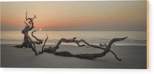Beach Art Cropped Wood Print