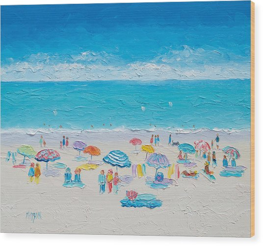 Beach Art - Fun In The Sun Wood Print