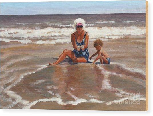 Beach Babes Wood Print