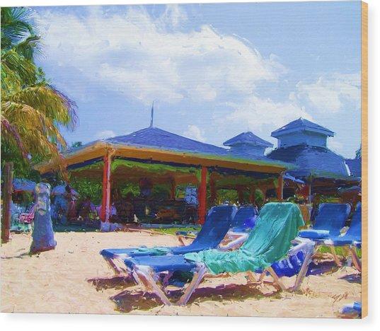 Beach Bar Wood Print