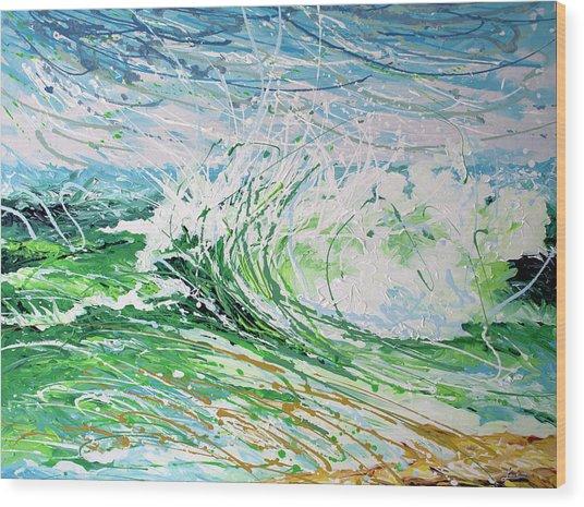 Beach Blast Wood Print