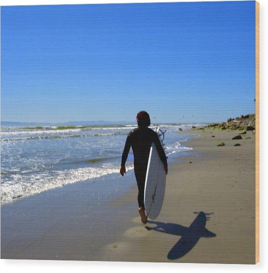 Beach Boy 1 Wood Print by Robin Hernandez