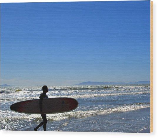 Beach Boy 2 Wood Print by Robin Hernandez