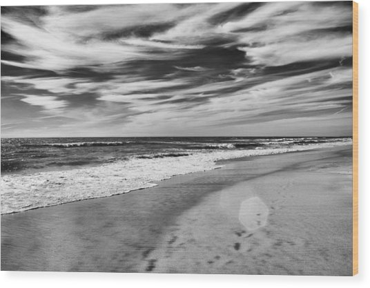 Beach Break Wood Print