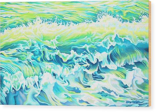Beach Break Wave Wood Print