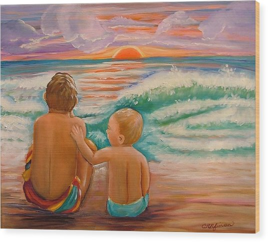 Beach Buddies Wood Print