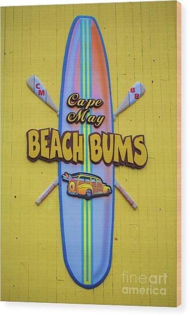Beach Bums - Cape May Wood Print