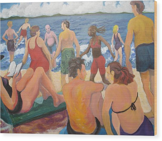 Beach Day Wood Print by Rufus Norman