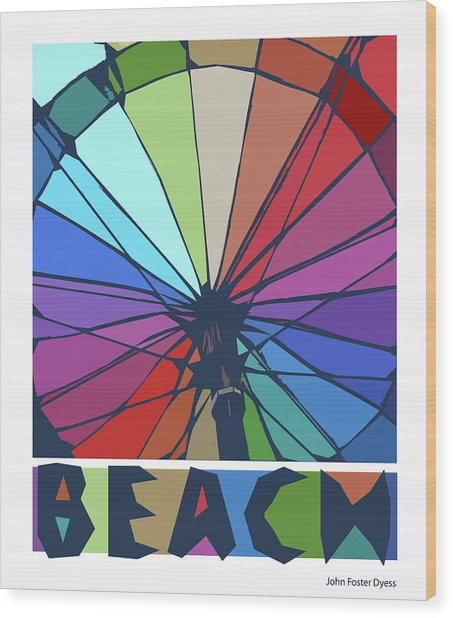 Beach Design By John Foster Dyess Wood Print