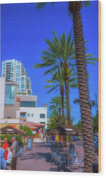 Beach Dr. St. Petersburg Florida Wood Print