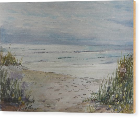 Beach Front Wood Print by Dorothy Herron
