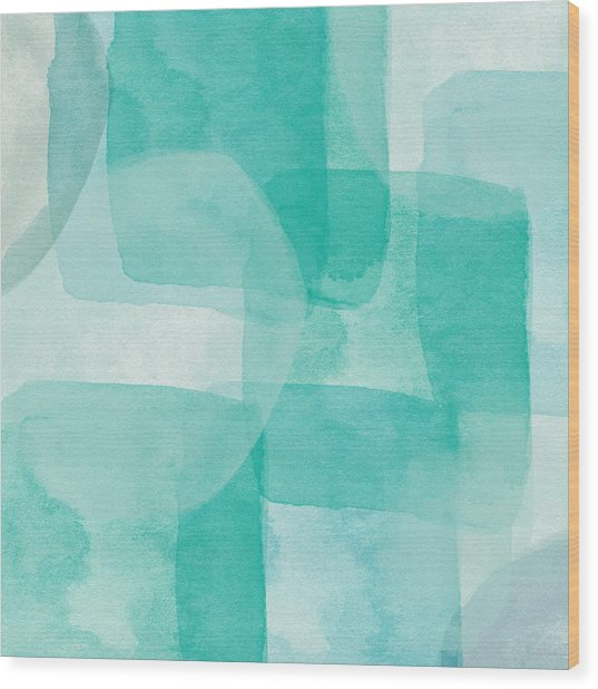 Beach Glass- Abstract Art By Linda Woods Wood Print