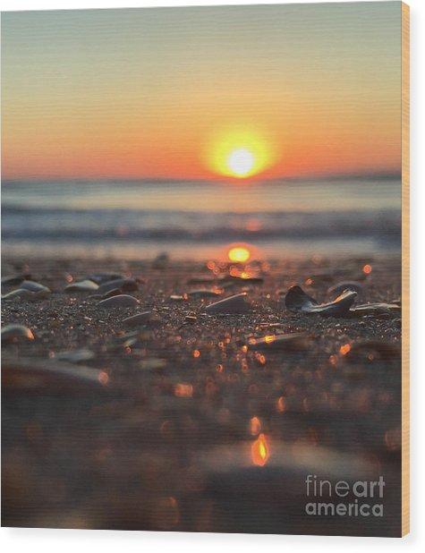 Beach Glow Wood Print