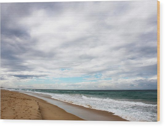 Beach Horizon - Surfer's Paradise Wood Print
