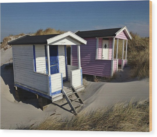 Beach Houses At Skanor Wood Print