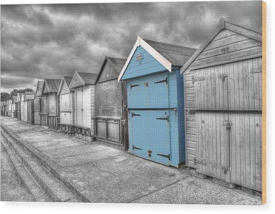 Beach Hut In Isolation Wood Print