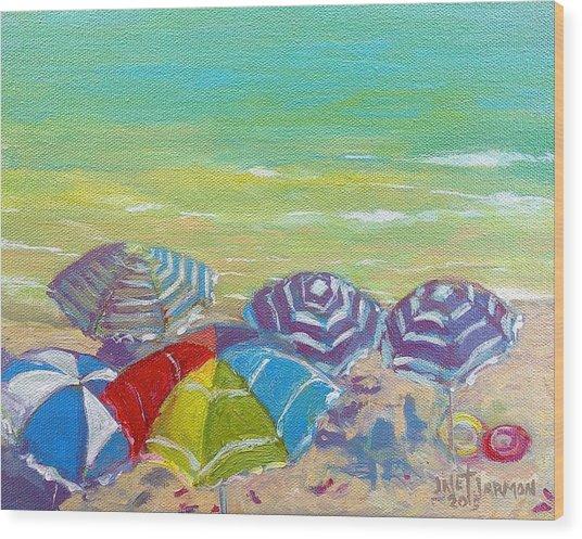 Beach Is Best Wood Print