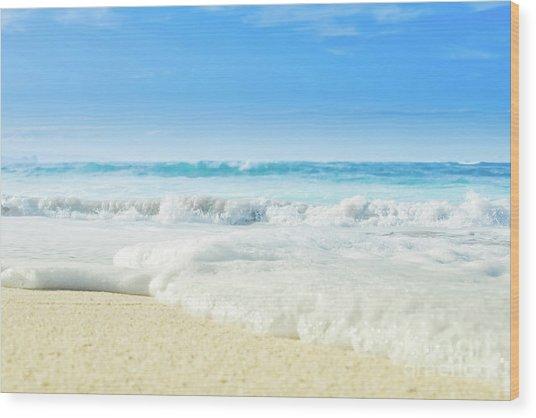 Wood Print featuring the photograph Beach Love Summer Sanctuary by Sharon Mau