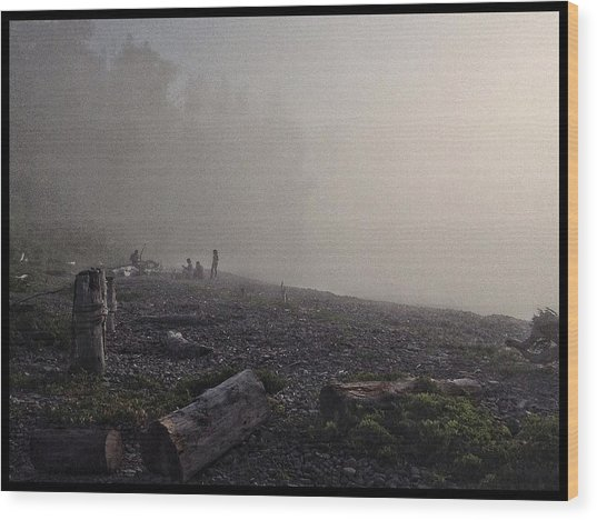 Beach Mist  Wood Print