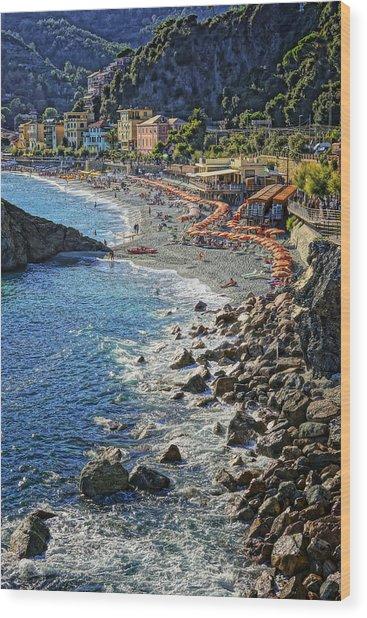 Beach Monterosso Italy Dsc02467 Wood Print