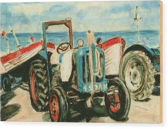 Beach Near Cromer Norfolk Uk Wood Print by Judy Adamson