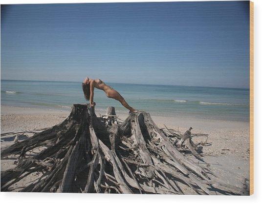 Beach Ngirl Wood Print