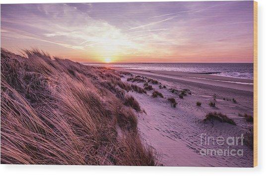 Beach Of Renesse Wood Print