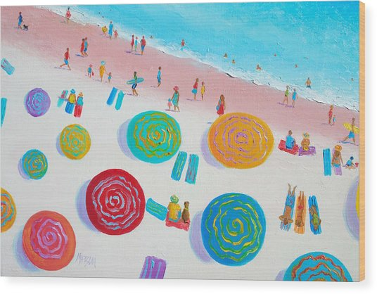 Beach Painting - A Walk In The Sun Wood Print
