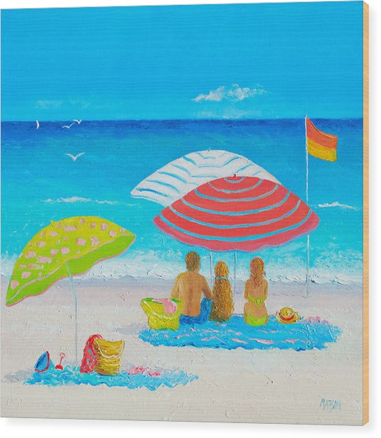 Beach Painting - Endless Summer Days Wood Print