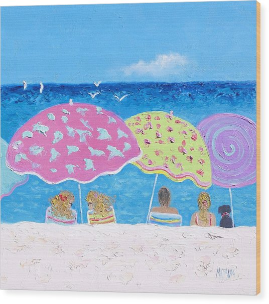 Beach Painting - Lazy Summer Days Wood Print