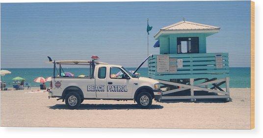 Beach Patrol Wood Print by Steven Scott