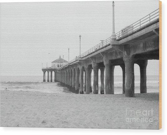 Beach Pier Film Frame Wood Print
