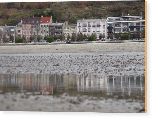 Beach Reflections Wood Print by Jez C Self