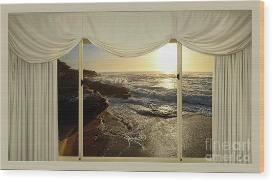 Beach Sunrise From Your Home Or Office By Kaye Menner Wood Print