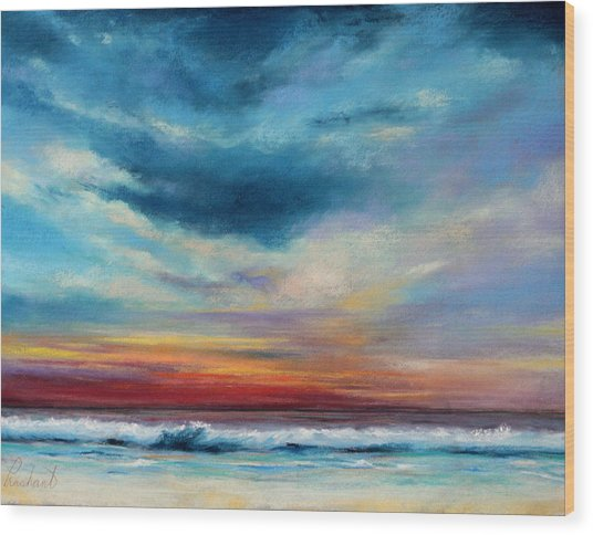 Beach Sunset Wood Print by Prashant Shah