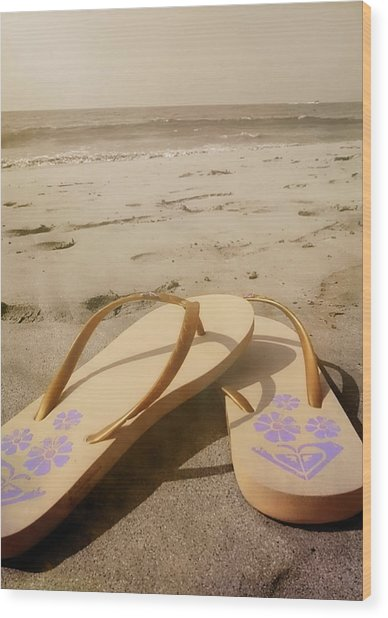 Beach Therapy Wood Print by JAMART Photography