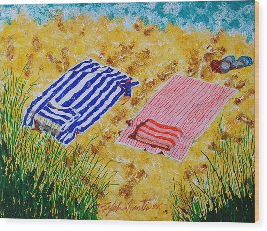 Beach Towels  Wood Print