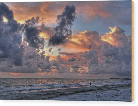 Beach Walk - Florida Seascape Wood Print