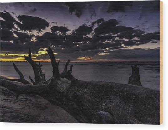 Beach Wood Wood Print