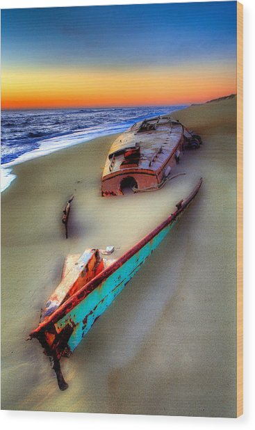 Beached Beauty Wood Print