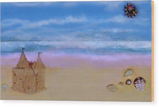 Beaches Castle Wood Print
