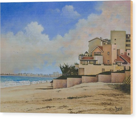Beaches Of Cancun Wood Print