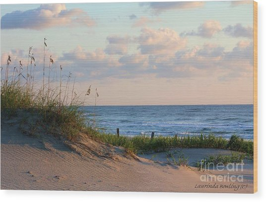 Beaches Of Outer Banks Nc Wood Print