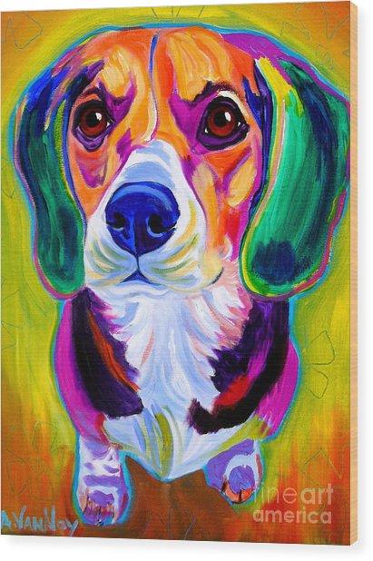 Beagle - Molly Wood Print