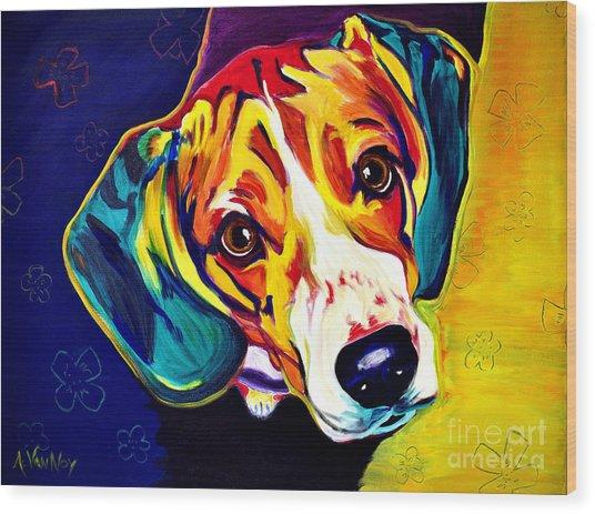 Beagle - Bailey Wood Print