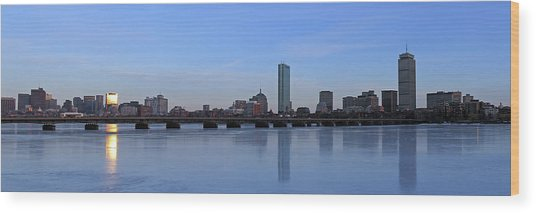 Beantown On Ice Wood Print