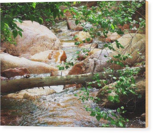 Bear Creek Cheyenne Canyon Wood Print