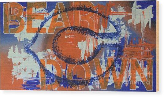 Bear Down Wood Print