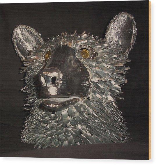 Bear Head Bust Wood Print by Jeff Orebaugh