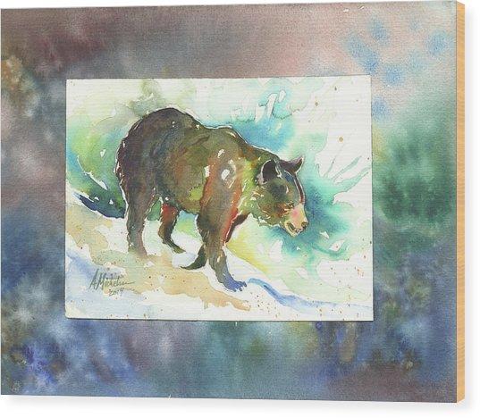 Bear I Wood Print
